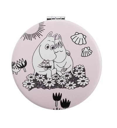 Nordicbuddies Moomin Love compact mirror, light pink