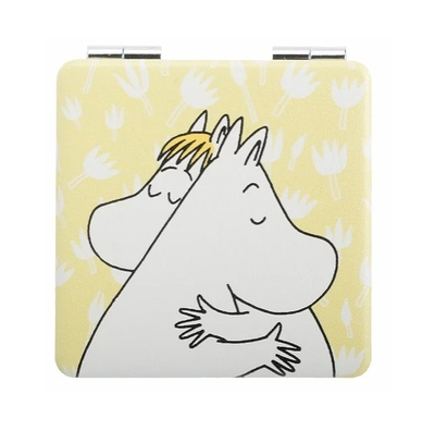 Nordicbuddies Moomin Love compact mirror, yellow