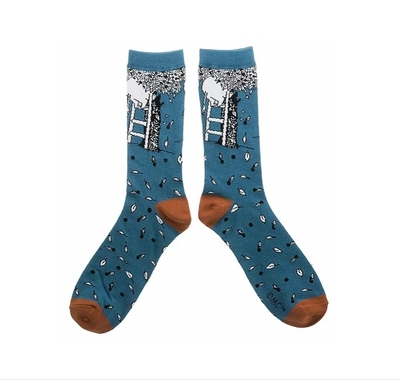Nordicbuddies Moominpappa apple tree men's socks, petrol