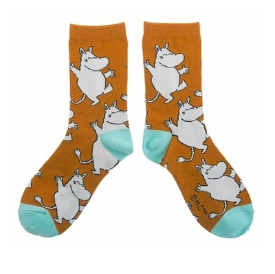 Nordicbuddies Moomintroll Happy women's socks, brown