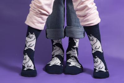 Nordicbuddies Moomintroll Pondering men's socks, dark blue