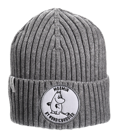 Nordicbuddies Moomintroll adults' beanie, grey