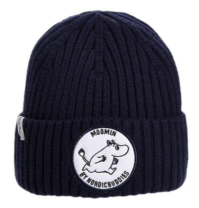 Nordicbuddies Moomintroll children's beanie, dark blue