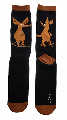 Nordicbuddies Sniff Wondering men's socks, black