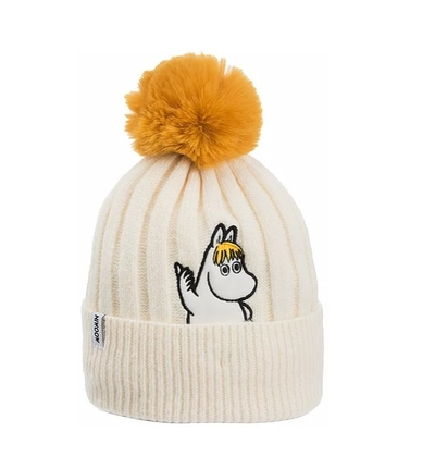 Nordicbuddies Snorkmaiden Idea adults' beanie with a bobble, white