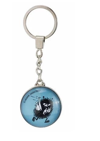 Nordicbuddies Stinky on the Run keyring, blue