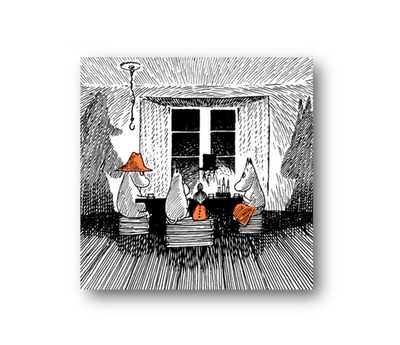 Opto Design Moomin Together coaster