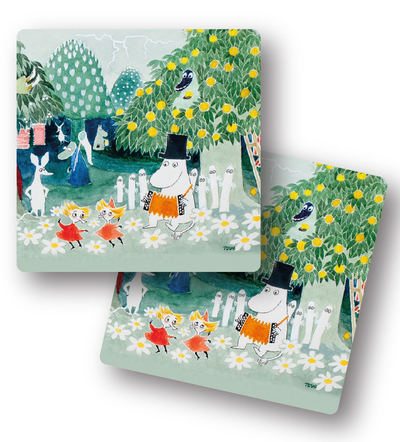 Opto Design Moomin the Hobgoblin's Hat coasters, set of 2