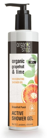 Organic Shop Active Shower Gel Grapefruit Punch suihkugeeli 280ml