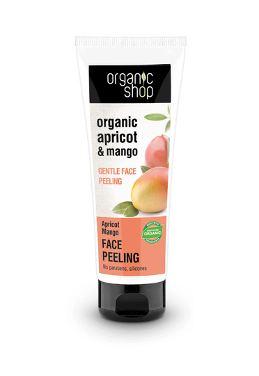 Organic Shop Apricot Mango gentle face peeling 75ml