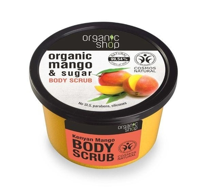 Organic Shop Kenyan Mango sugar scrub, 250ml