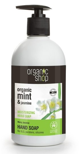 Organic Shop Minty Jasmine hand soap 500ml