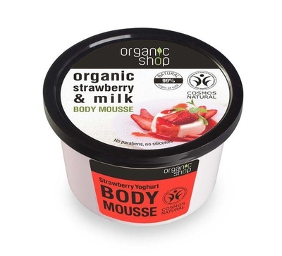 Organic Shop Strawberry Yoghurt moisturizing body mousse, 250ml