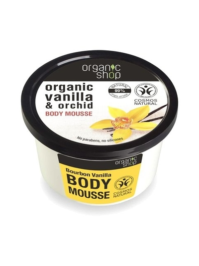 Organic Shop Vanilla & orchid moisturizing body mousse, 250ml