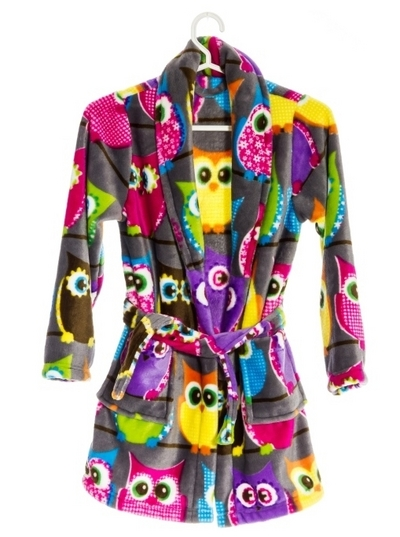 Owl Bathrobe for Children, two sizes