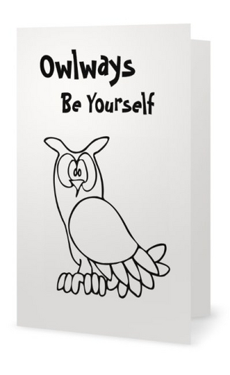 Owlways Cool 2 part card - Owlways Be Yourself