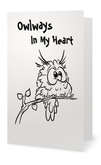 Owlways Cool 2 part card - Owlways In My Heart
