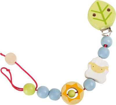 Pacifier Chain, sheep, colourful