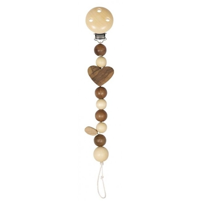 Pacifier chain, heart, nature