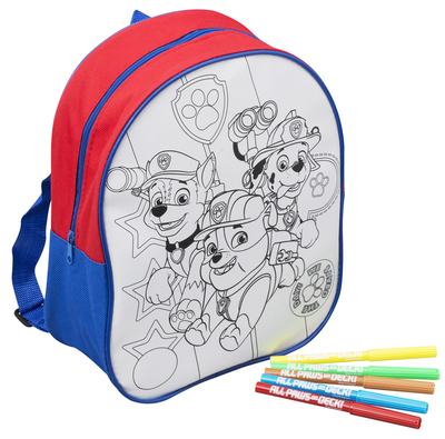 Paw Patrol color your own backpack and markers