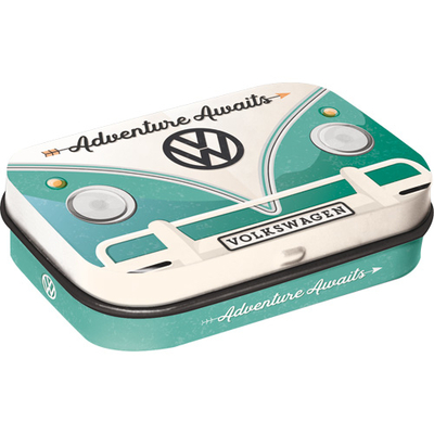 Peppermint tin box VW Bulli - Adventure Awaits