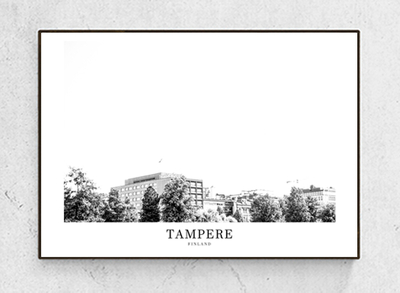 Photograph poster Tampere, black/white, starting from 9.90€
