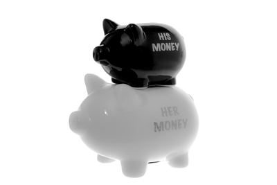 Piggy bank, black/white
