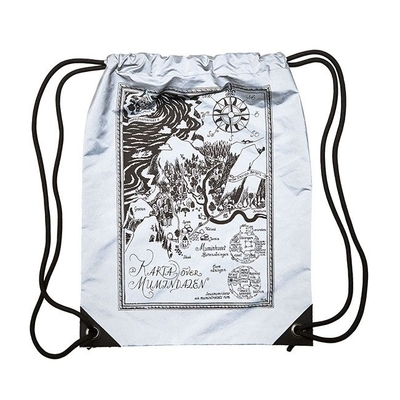 Piironki x Moomin Reflective drawstring gym bag, Map of Moominvalley