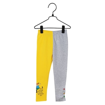 Pippi Longstocking Citation children's leggings, yellow