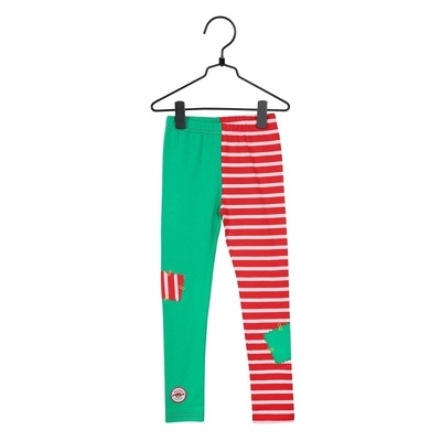 Pippi Longstocking Patch children's leggings, red/green