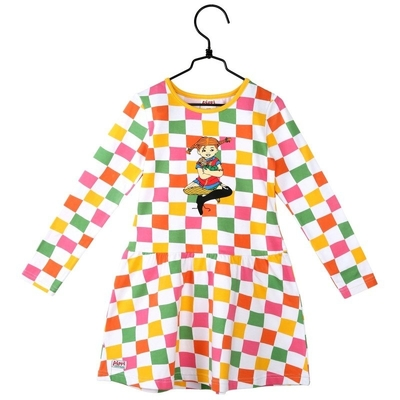 Pippi Longstocking Sorbet children's dress 86-122cm, checkered