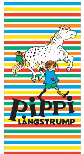 Pippi Longstocking bath towel, Stripes