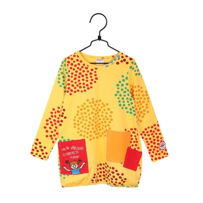 Pippi Longstocking children's Drops Tunic, yellow