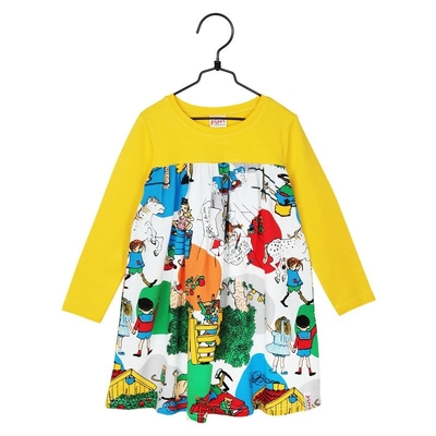 Pippi Longstocking in Villa Villekulla children's dress, yellow