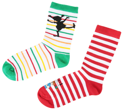 Pippi children's Socks 2 pairs, Stripes, different sizes