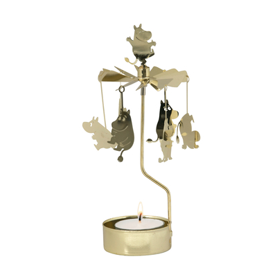 Pluto Produkter Moomin rotary candle holder Moomintroll, gold