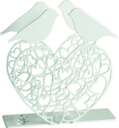 Pluto Produkter Napkin holder Lovebirds, white