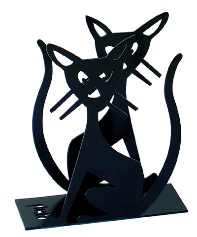 Pluto Produkter Napkin holder cat, black