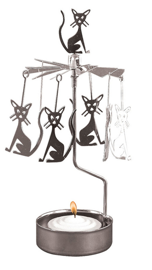 Pluto Produkter Rotary candle holder, Cats