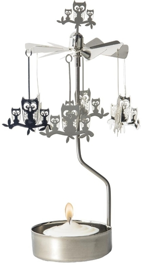 Pluto Produkter Rotary candle holder, Owl