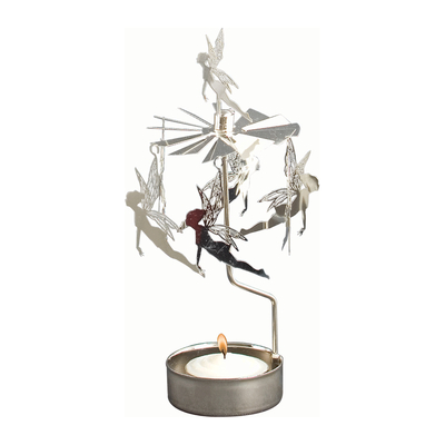Pluto Produkter rotary candle holder, Fairies, silver