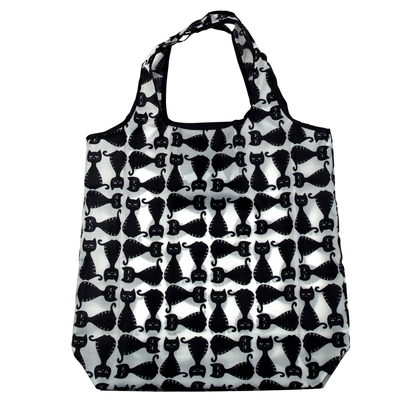 Pluto Produkter shopper bag Cats, black/white