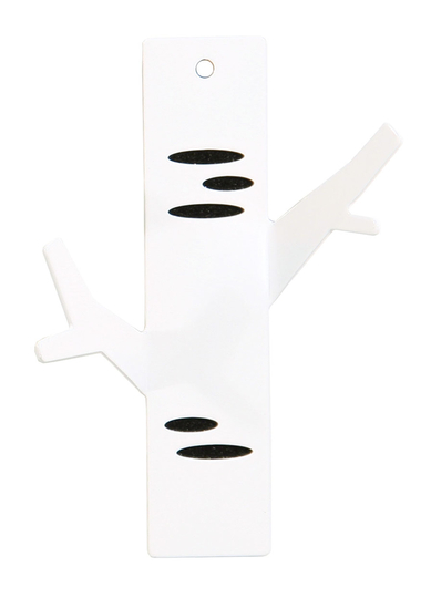 "Pluto Produkter small decorative wall hook,""Koivu"", white"