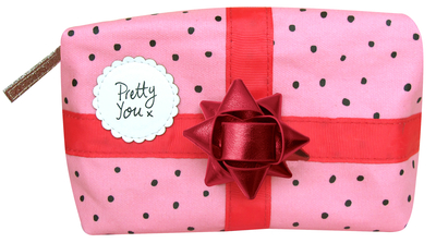 Pompom Tutti large makeup bag, pink