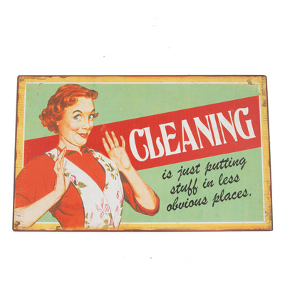 Retro Plaque 50´s Cleaning