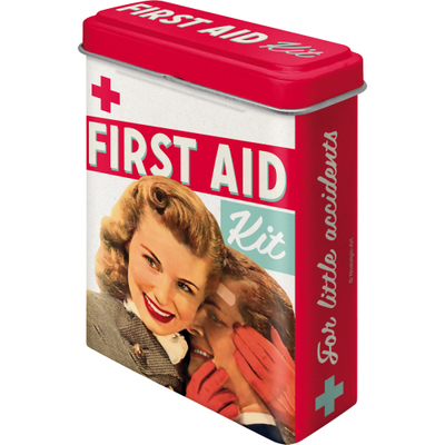 Retro-laastarirasia First Aid Kit
