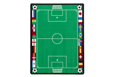 Rug football field, green 100x150cm