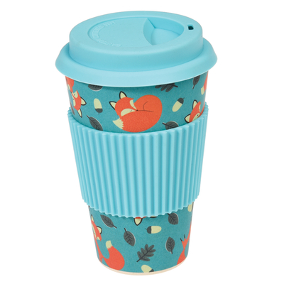 Rusty the Fox bamboo takeaway mug