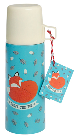Rusty the Fox thermos with a mug, 350ml