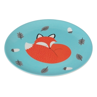 Rusty the fox children's plate